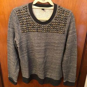 JCrew Metal Stud Embellished Sweatshirt Pullover